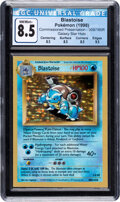 Memorabilia:Trading Cards, Pokémon Blastoise #009/165R Commissioned Presentation Galaxy Star Hologram (Wizards of the Coast, 1998) CGC NM/Mint+ 8.5. ...