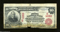 National Bank Notes:Pennsylvania, Susquehanna, PA - $10 1902 Red Seal Fr. 613 FNB of ...
