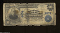 National Bank Notes:West Virginia, Bluefield, WV - $10 1902 Plain Back Fr. 624 The Flat Top ...