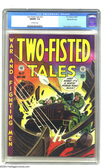 Two-Fisted Tales #27 Gaines File pedigree 7/10 (EC, 1952) CGC NM/MT 9.8 Off-white pages. Beautiful colors characterize t...