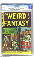 "Golden Age (1938-1955):Science Fiction, Weird Fantasy #6 Gaines File Copy 9/12 (EC, 1951) CGC NM+ 9.6. AlFeldstein's wacky ""world of robots"" cover kicks off this e..."