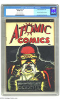 Golden Age (1938-1955):Crime, Atomic Comics #1 (Green Publishing Co., 1946) CGC VF/NM 9.0 Cream to off-white pages. The DC fan could have been forgiven fo...