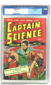 Captain Science #2 Bethlehem pedigree (Youthful Magazines, 1951) CGC NM+ 9.6 Off-white pages. This gem received the high...