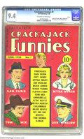 Golden Age (1938-1955):Humor, Crackajack Funnies #1 Denver pedigree (Dell, 1938) CGC NM 9.4 Off-white to white pages. Dell Comics' original flagship title...