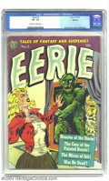 Golden Age (1938-1955):Horror, Eerie #3 Spokane pedigree (Avon, 1951) CGC VF- 7.5 Off-white towhite pages. This short-lived title is noted for having grea...