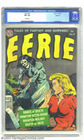 Golden Age (1938-1955):Horror, Eerie #9 Spokane pedigree (Avon, 1952) CGC VF+ 8.5 White pages. Weknow boobs when we see 'em -- we're talking about the guy...