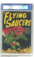 Golden Age (1938-1955):Science Fiction, Flying Saucers #nn River City pedigree (Avon, 1952) CGC NM- 9.2Cream to off-white pages. Fawcette's dynamic depiction of al...