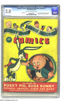Golden Age (1938-1955):Cartoon Character, Looney Tunes and Merrie Melodies Comics #1 (Dell, 1941) CGC GD 2.0Light tan to off-white pages. This premiere issue took ga...
