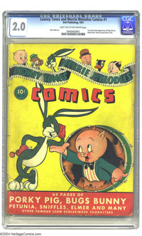 Looney Tunes and Merrie Melodies Comics #1 (Dell, 1941) CGC GD 2.0 Light tan to off-white pages. This premiere issue too...