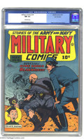 Golden Age (1938-1955):War, Military Comics #19 San Francisco pedigree (Quality, 1943) CGC NM9.4 Off-white pages. Adorning this cover and interior is t...