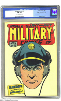 Military Comics #38 Mile High pedigree (Quality, 1945) CGC NM 9.4 Off-white to white pages. This is a truly stunning exa...