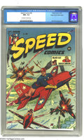 Golden Age (1938-1955):Superhero, Speed Comics #36 Mile High pedigree (Harvey, 1945) CGC NM+ 9.6 Off-white to white pages. Harvey Comics, famous for humor tit...
