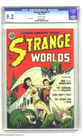 Golden Age (1938-1955):Science Fiction, Strange Worlds #1 (Avon, 1950) CGC NM- 9.2 Off-white pages. Avon'sexperience in creating lurid paperback covers shone throu...