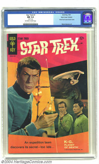 Star Trek #1 Back Cover Variant - Pacific Coast pedigree (Gold Key, 1967) CGC NM 9.4 Off-white to white pages. This is t...