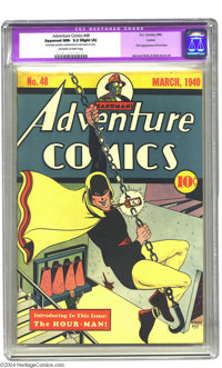 Adventure Comics #48 Larson pedigree (DC, 1940) CGC Apparent NM- 9.2 Slight (A) Off-white to white pages. This key Golde...
