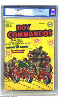 Golden Age (1938-1955):War, Boy Commandos #7 Pennsylvania pedigree (DC, 1944) CGC NM 9.4Off-white to white pages. Simon and Kirby's cover looks positiv...