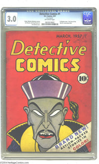 Detective Comics #1 (DC, 1937) CGC GD/VG 3.0 Off-white pages. Here's the first issue of the comic book that gave DC its...