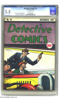 Golden Age (1938-1955):Crime, Detective Comics #10 (DC, 1937) CGC FN- 5.5 Off-white pages. It's our privilege to offer not one, but several of the earlies...