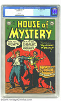 Golden Age (1938-1955):Horror, House of Mystery #3 Spokane pedigree (DC, 1952) CGC VF/NM 9.0 Whitepages. Evil ventriloquist dummies have pulled the string...