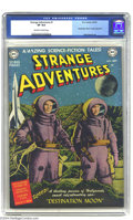"Golden Age (1938-1955):Science Fiction, Strange Adventures #1 (DC, 1950) CGC VF 8.0 Off-white to whitepages. ""Destination Moon"" movie adaptation with photo cover; ..."
