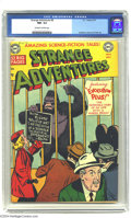 Golden Age (1938-1955):Science Fiction, Strange Adventures #8 (DC, 1951) CGC NM- 9.2 Off-white to whitepages. The first 'gorilla' cover of the title, the device wo...