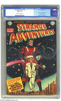 Golden Age (1938-1955):Science Fiction, Strange Adventures #9 (DC, 1951) CGC NM+ 9.6 Off-white to whitepages. Outside of the first issue, this one is considered th...