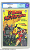 Golden Age (1938-1955):Science Fiction, Strange Adventures #13 Spokane pedigree (DC, 1951) CGC NM+ 9.6White pages. What a gem this pedigreed bit of perfection is! ...