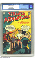 Golden Age (1938-1955):Science Fiction, Strange Adventures #15 (DC, 1951) CGC NM 9.4 Off-white to whitepages. For nearly 200 issues of this title, DC's threesome o...