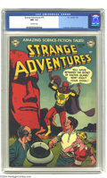 Golden Age (1938-1955):Science Fiction, Strange Adventures #16 (DC, 1952) CGC NM- 9.2 Off-white pages. GilKane's cover is shown off in style by this copy that CGC ...