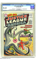 Silver Age (1956-1969):Superhero, The Brave and the Bold #28 Justice League of America (DC, 1960) CGCVF 8.0 Cream to off-white pages. This key issue singleha...