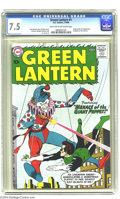 Silver Age (1956-1969):Superhero, Green Lantern #1 (DC, 1960) CGC VF- 7.5 Light tan to off-whitepages. One of Gil Kane's most famous covers launches the rece...