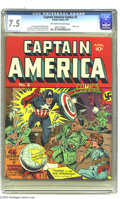 Golden Age (1938-1955):Superhero, Captain America Comics #2 (Timely, 1941) CGC VF- 7.5 Off-white to white pages. Captain America didn't take kindly to Nazi pl...