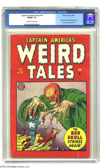 Captain America Comics #74 (Timely, 1949) CGC FN/VF 7.0 Off-white to white pages. By the late 1940s, Timely wasn't quite...