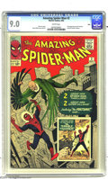 Silver Age (1956-1969):Superhero, The Amazing Spider-Man #2 (Marvel, 1963) CGC VF/NM 9.0 White pages.This is undoubtedly one of the most difficult of the ear...