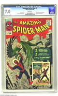 Silver Age (1956-1969):Superhero, The Amazing Spider-Man #2 (Marvel, 1963) CGC FN/VF 7.0 White pages. The second issue of this title was only Spidey's third a...