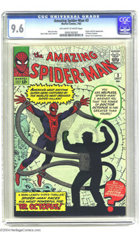 The Amazing Spider-Man #3 (Marvel, 1963) CGC NM+ 9.6 Off-white to white pages. Here's the highest-graded copy known to C...