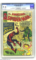 Silver Age (1956-1969):Superhero, The Amazing Spider-Man #5 (Marvel, 1963) CGC VF- 7.5 Cream to off-white pages. Here are three marquee names for you: Spider-...