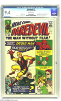 Silver Age (1956-1969):Superhero, Daredevil #1 (Marvel, 1964) CGC NM 9.4 Off-white pages. Daredevil,star of a movie (with more to come?) and one of the most ...