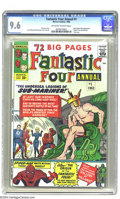 Silver Age (1956-1969):Superhero, Fantastic Four Annual #1 (Marvel, 1963) CGC NM+ 9.6 Off-white towhite pages. Back in '63, comics fans were overwhelmed by t...