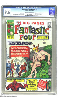 Fantastic Four Annual #1 (Marvel, 1963) CGC NM+ 9.6 Off-white to white pages. Back in '63, comics fans were overwhelmed...