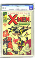 Silver Age (1956-1969):Superhero, X-Men #1 (Marvel, 1963) CGC VF+ 8.5 Off-white pages. The origin andfirst appearance of the X-Men is in great demand in virt...