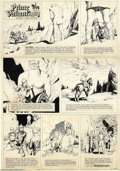 Original Comic Art:Comic Strip Art, Hal Foster - Prince Valiant Sunday Comic Strip Original Art, dated 2-18-62 (King Features Syndicate, 1962). A giant plaster ...