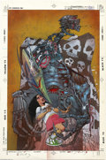 Original Comic Art:Covers, Simon Bisley - Doom Patrol #35 Cover Original Art (DC, 1990). Thatmad master of splatter from the British Isles, Simon Bisl...