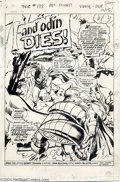 Original Comic Art:Splash Pages, John Buscema and Vince Colletta - Thor #198, Splash Page 1 OriginalArt (Marvel, 1972). From the second story arc featuring ...