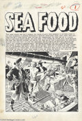 "Original Comic Art:Splash Pages, Reed Crandall - Piracy #2 ""Sea Food"" Splash Page Original Art (EC,1954). Reed Crandall's detailed pen work was ideally suit..."