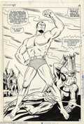 "Original Comic Art:Splash Pages, Bill Everett - Tales to Astonish #87 Splash Page 13 Original Art(Marvel, 1967). This is an spectacular, ""twice-up"" page wit..."