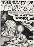 Original Comic Art:Splash Pages, Al Feldstein - The Crypt of Terror #18 Splash Page Original Art (EC, 1950). If you have a hankerin' for a piece from the daw...