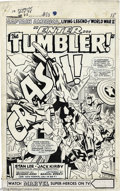 Original Comic Art:Splash Pages, Jack Kirby and Dick Ayers - Tales of Suspense #83, page 1 SplashPage Original Art (Marvel, 1966). Enter the Tumbler, in tru...