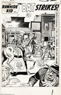 Original Comic Art:Splash Pages, Jack Kirby and Dick Ayers - Rawhide Kid #25 Splash Page 1 OriginalArt (Marvel, 1961). The Rawhide Kid rides into town and t...