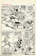 Original Comic Art:Panel Pages, Jack Kirby and Chic Stone - Journey into Mystery #109, page 15Original Art (Marvel, 1964). It's a clash of the titans, Marv...